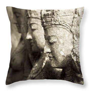 Bali, Indonesia, Asia Stone Statues Throw Pillow by Keith Levit