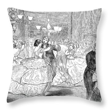 Ball, 1858 Throw Pillow by Granger