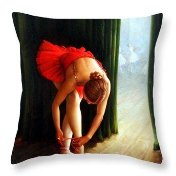 Ballerina 2 Throw Pillow by Yoo Choong Yeul