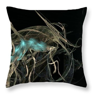 Ballerina Butterfly Throw Pillow by Kelly Turner