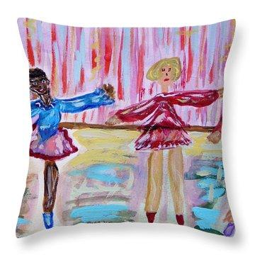 Ballerina Class Throw Pillow