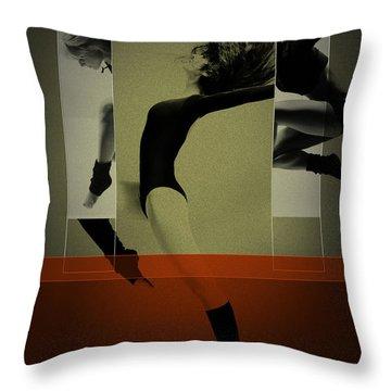 Ballet Dancing Throw Pillow by Naxart Studio