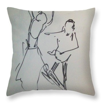 Ballet In The Park 2 Throw Pillow by James Christiansen
