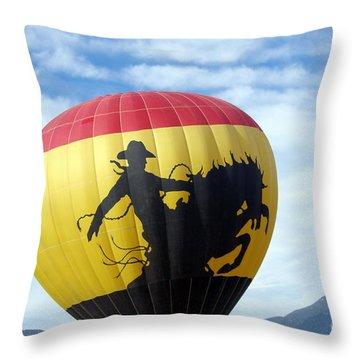 Throw Pillow featuring the photograph Balloon 24 by Deniece Platt