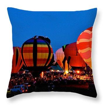 Balloon Glow Throw Pillow by Mark Dodd