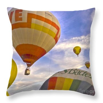 Balloon Ride Throw Pillow by Heiko Koehrer-Wagner