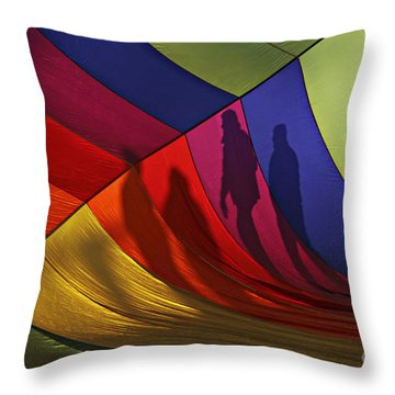 Balloon Shadows Throw Pillow