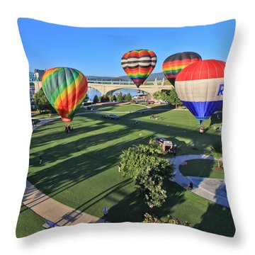 Balloons In Coolidge Park Throw Pillow