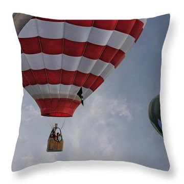 Balloons Over Readington Throw Pillow