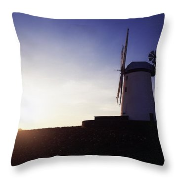 Ballycopeland Windmill, Co. Down Throw Pillow by The Irish Image Collection
