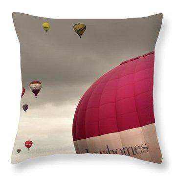 Baloons Throw Pillow by Angel  Tarantella