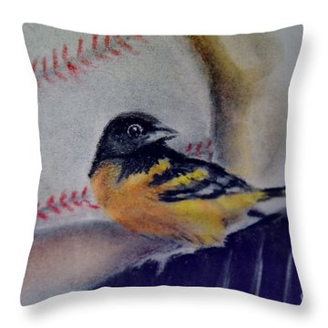 Baltimore Orioles Throw Pillow by AE Hansen