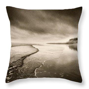 Bamburgh Castle Throw Pillow by Simon Marsden