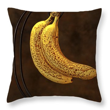 Banana Still Life Throw Pillow by Tom Mc Nemar