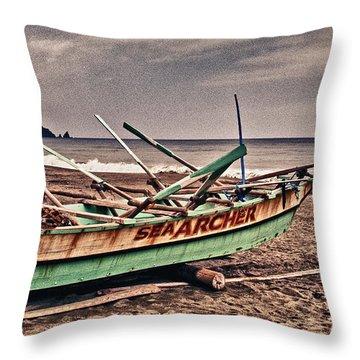 Banca Boat 2 Throw Pillow by Skip Nall