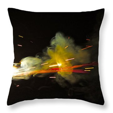 Bang Throw Pillow by Xn Tyler