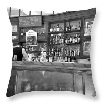Throw Pillow featuring the photograph Bar In Old Havana by Lynn Bolt