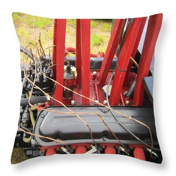 Barbwire Engine Throw Pillow by Kym Backland