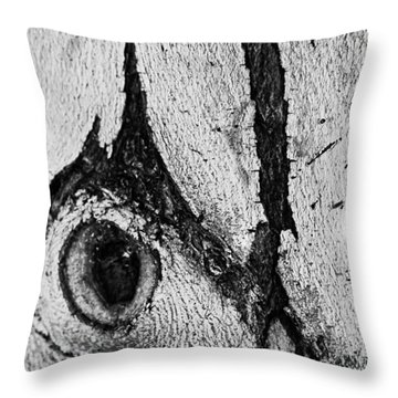 Bark Eye Throw Pillow