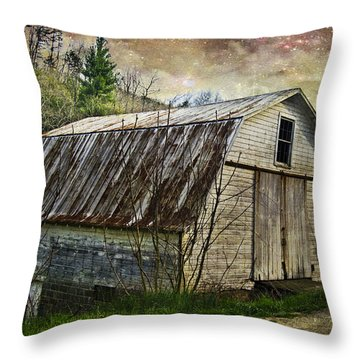 Barn At Twilight Throw Pillow