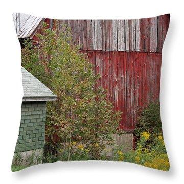 Barn Buildings Throw Pillow