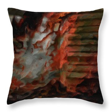 Barn Burning Throw Pillow by Jack Zulli