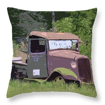 Barn Fresh Pickup Throw Pillow by Steve McKinzie