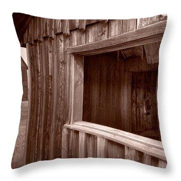 Barns Grand Tetons Throw Pillow by Steve Gadomski
