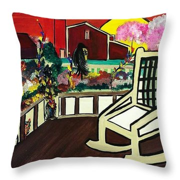 Barnyard Throw Pillow by Kelly Turner