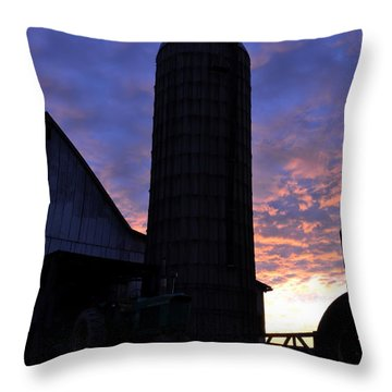 Barnyard Sunrise IIi Throw Pillow by JD Grimes