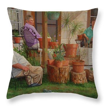 Throw Pillow featuring the painting Baron's Estate by AnnaJo Vahle