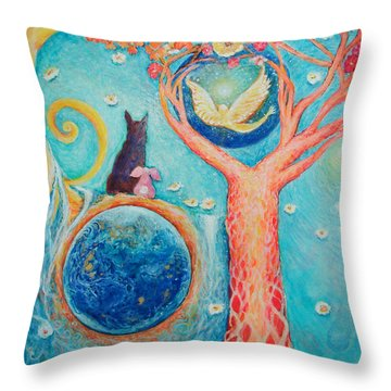 Baron's Painting Throw Pillow by Ashleigh Dyan Bayer