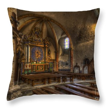 Baroque Church In Savoire France 2 Throw Pillow by Clare Bambers