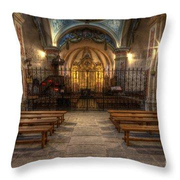 Baroque Church In Savoire France 4 Throw Pillow
