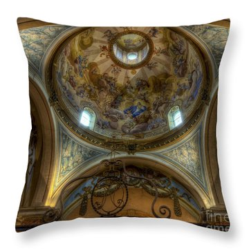 Baroque Church In Savoire France 5 Throw Pillow by Clare Bambers