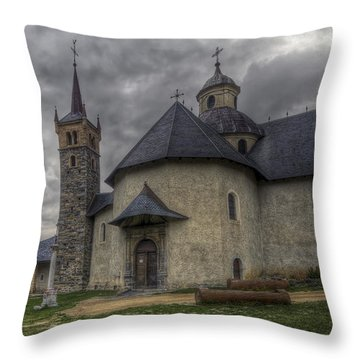 Baroque Church In Savoire France 6 Throw Pillow by Clare Bambers