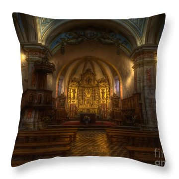 Baroque Church In Savoire France Throw Pillow by Clare Bambers