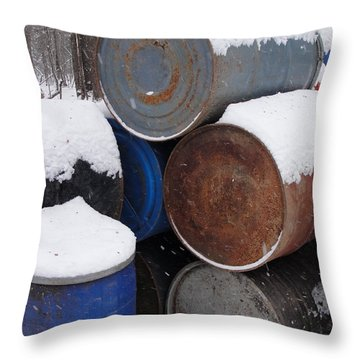 Throw Pillow featuring the photograph Barrel Of Food by Tiffany Erdman