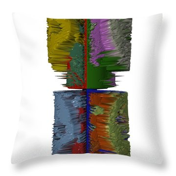 Bart Simpson's Spine Throw Pillow by Robert Margetts