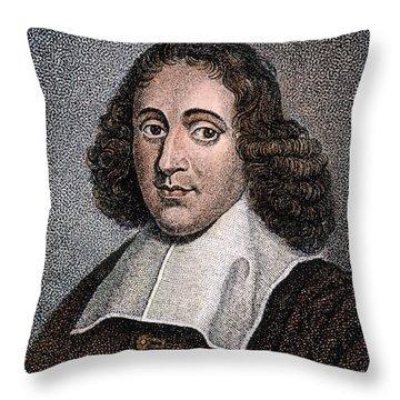 Baruch Spinoza (1632-1677) Throw Pillow by Granger