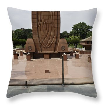 Throw Pillow featuring the photograph Base Of The Jallianwala Bagh Memorial In Amritsar by Ashish Agarwal