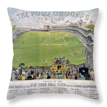 Baseball, 1887 Throw Pillow by Granger