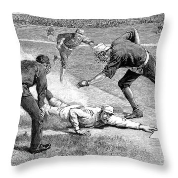 Baseball Game, 1885 Throw Pillow by Granger