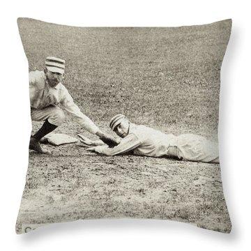 Baseball Game, C1887 Throw Pillow by Granger