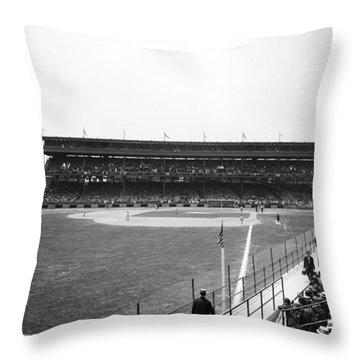 Baseball Game, C1912 Throw Pillow by Granger