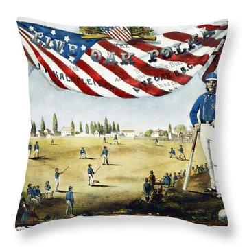 Baseball Song Sheet, 1860 Throw Pillow by Granger