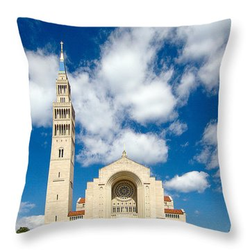 Basilica Of The National Shrine Of The Immaculate Conception Throw Pillow by Dan Wells