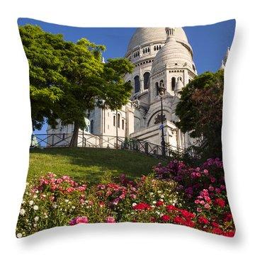 Basilique Du Sacre Coeur Throw Pillow by Brian Jannsen