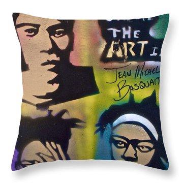 Basquait Squared Throw Pillow by Tony B Conscious
