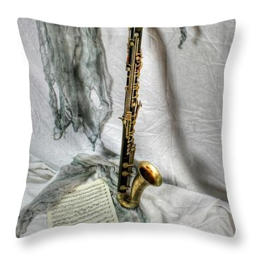 Bass Clarinet Throw Pillow by Dan Stone